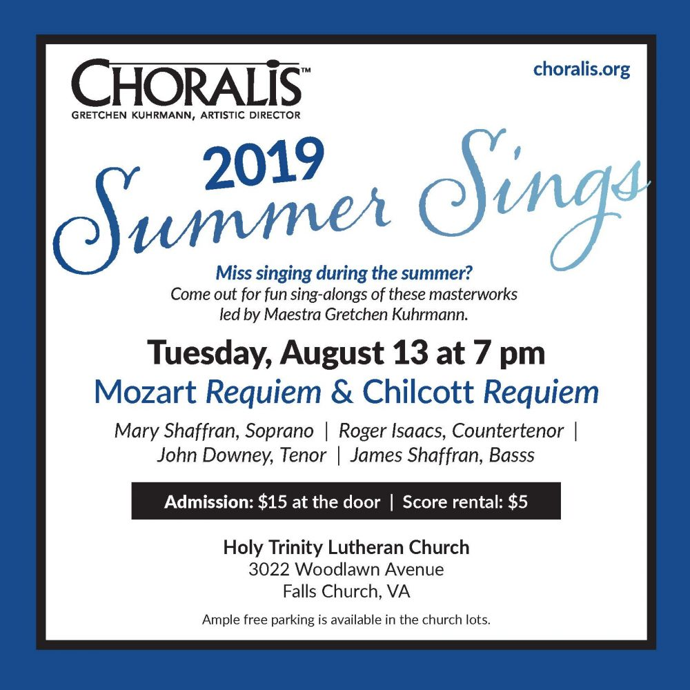 Mozart Requiem Sing-Along This Tuesday!
